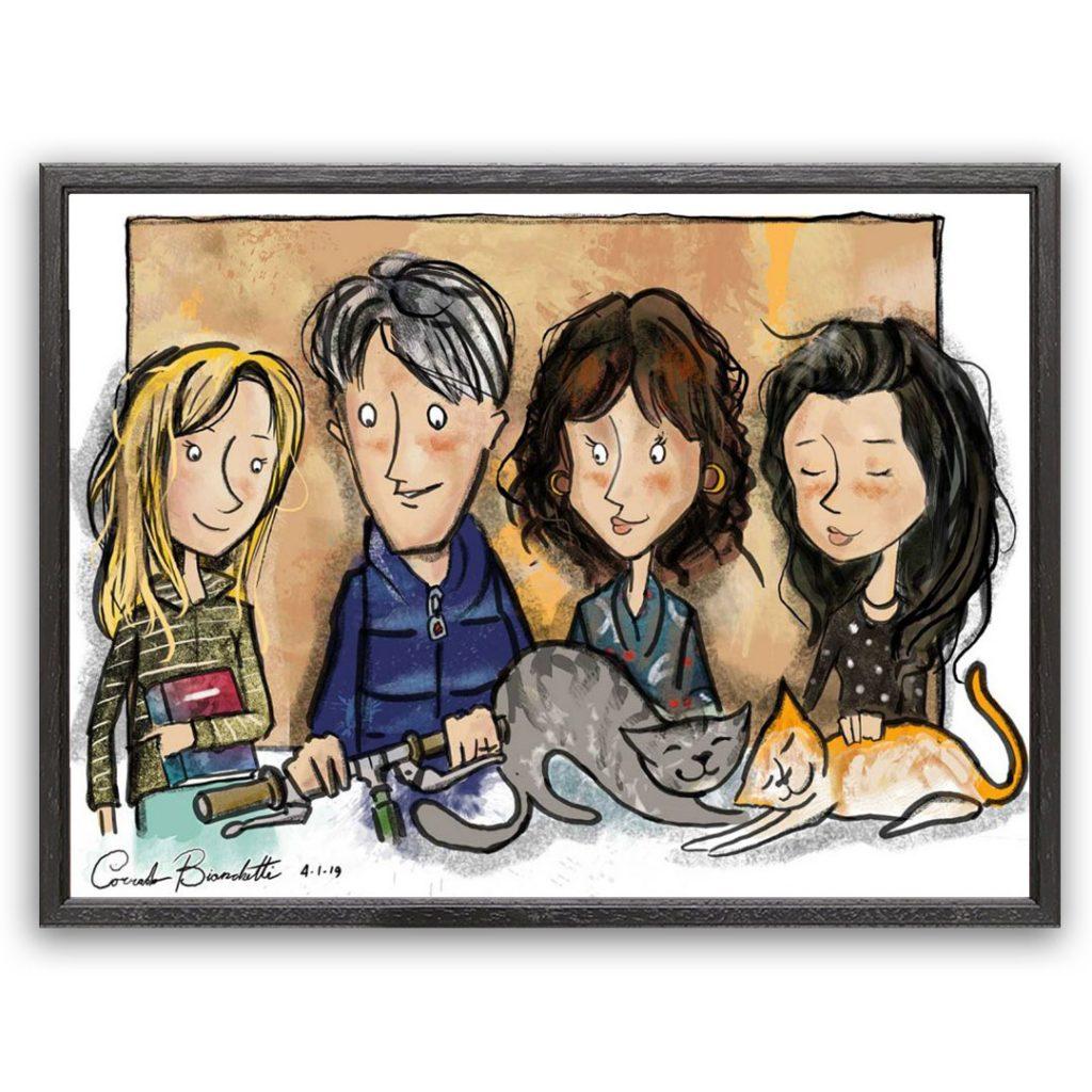 Caricatura_Giulia-Family
