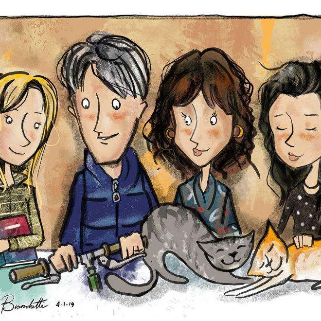 Caricatura_Giulia Family